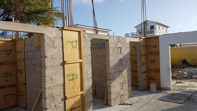 Begin van de bouw