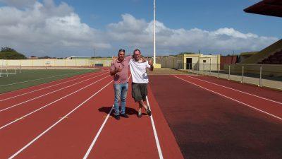 Aanleg atletiekbaan Bonaire